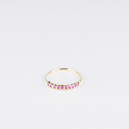SATOMI KAWAKITA Sweet Ten Band Ruby Ring in 18K Yellow Gold