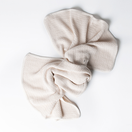 Kid's FOG LINEN WORK Cotton Knit Baby Blanket in Ivory