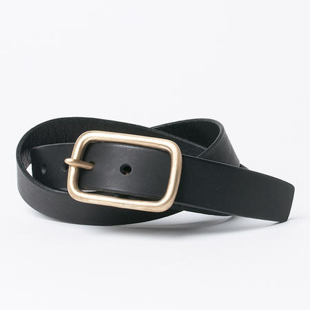 KIKA NY Square Buckle with 1.25 Wide Belt in Black