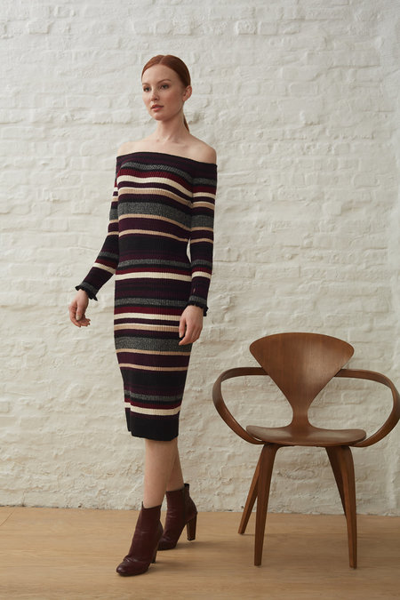 ELEVEN SIX KIERA STRIPE SWEATER DRESS