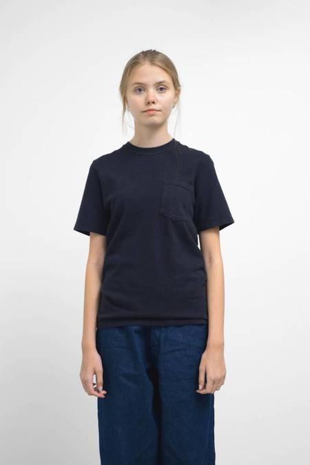 Jungmaven Black Indigo 10oz Jersey Short Sleeve Pocket Tee Shirt