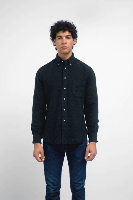Gitman Vintage Long Sleeve Geometric Flannel Shirt