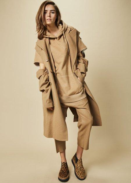 R13 Women's Peak Lapel Wrap Coat