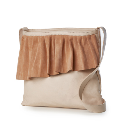 Marie Turnor The Ruffle Shoulder Bag - Peach
