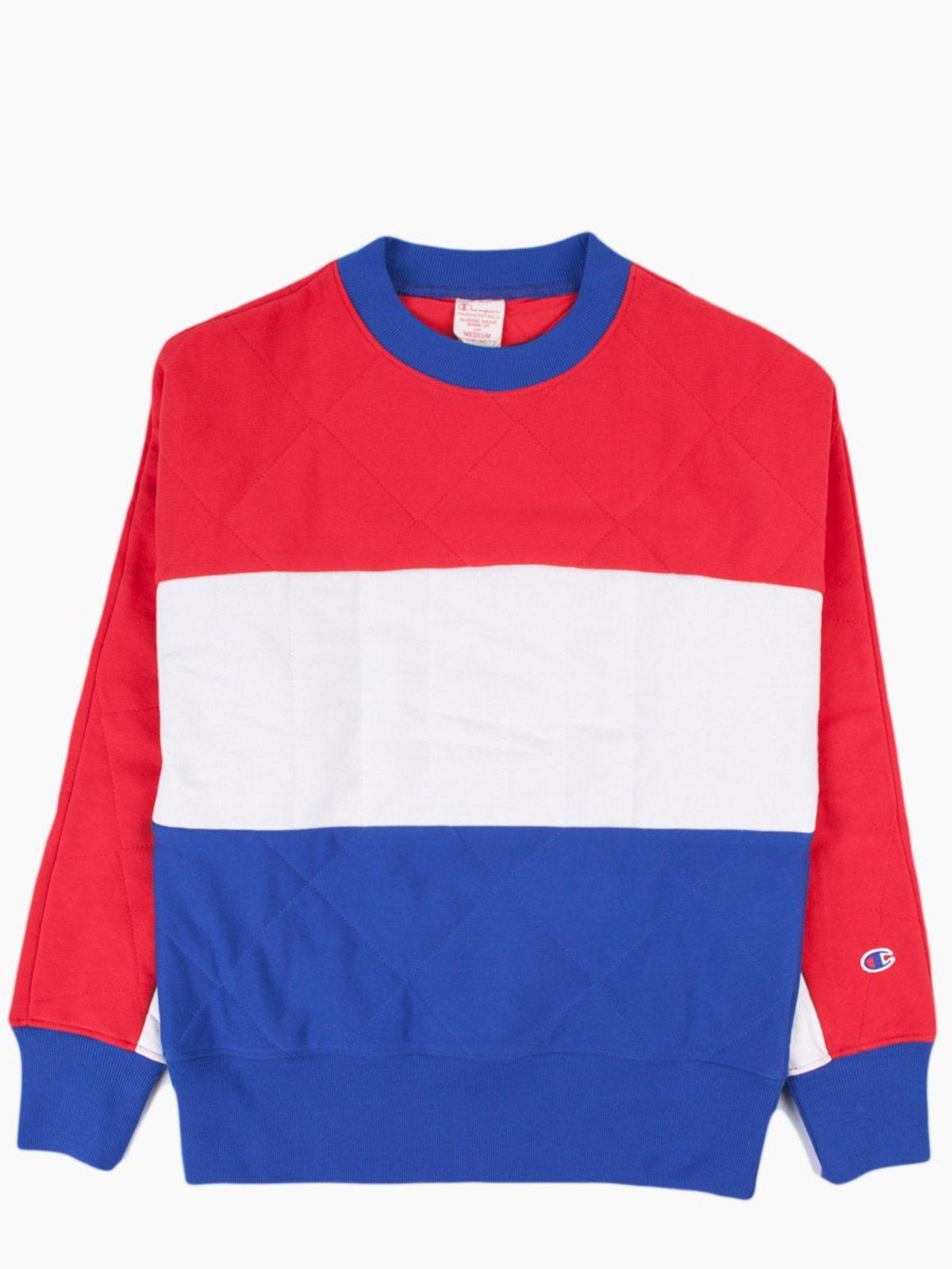 269c82af Champion Reverse Weave Tri-Colour Quilted Crewneck Sweatshirt ...