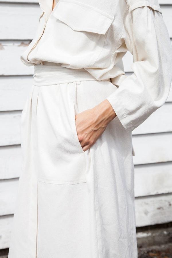 Caron Callahan Farrah Dress | ivory