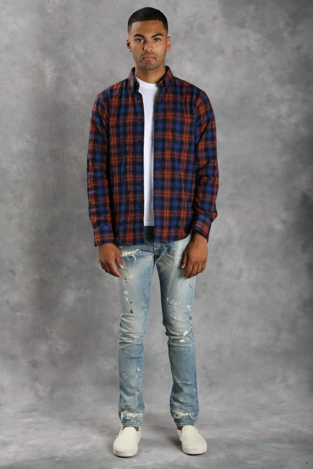 Naked & Famous Flannel Jacquard Regular Shirt