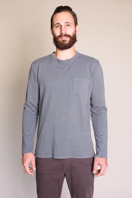 Jungmaven Baja Long Sleeve Pocket Tee in Charcoal Gray
