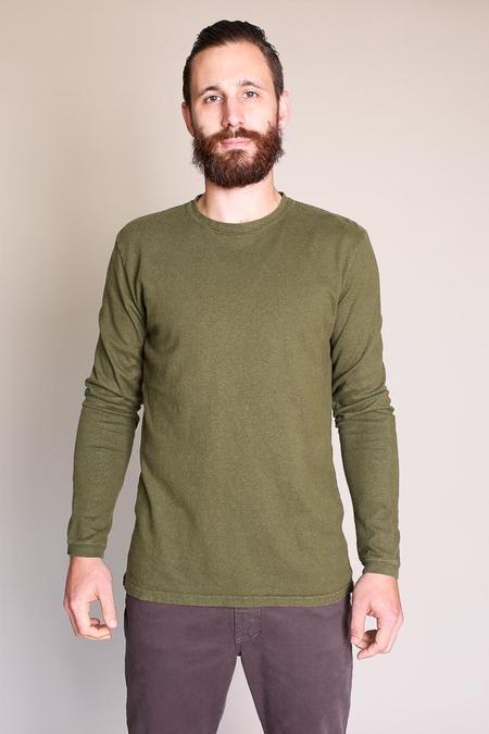 Jungmaven Baja Long Sleeve Tee in Supply Green