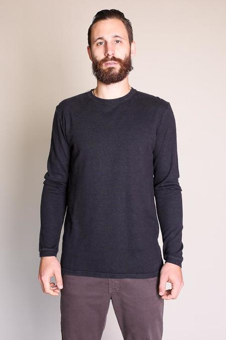Jungmaven Baja Long Sleeve Tee in Washed Black