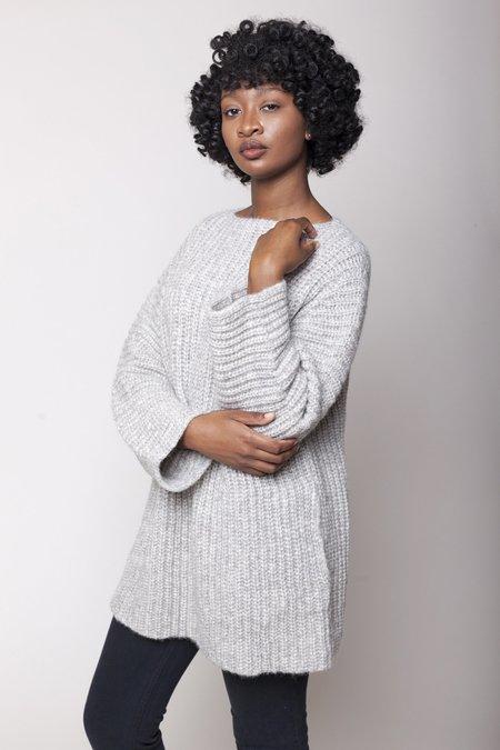 Lauren Manoogian Fisherwoman Tunic Sweater - Dapple Grey