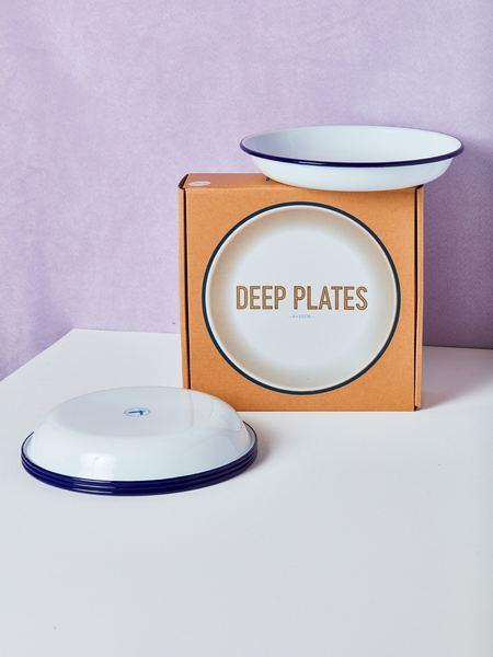 Falcon Enamelware Deep Plates (set of 4)