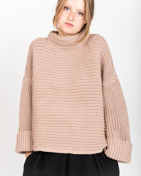 Micaela Greg Blush Alpaca Parallel Sweater