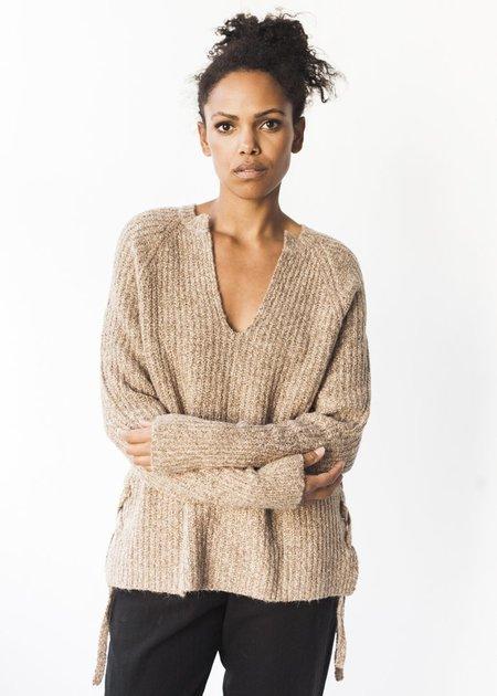 Line Knitwear Sloan in Camel Tweed
