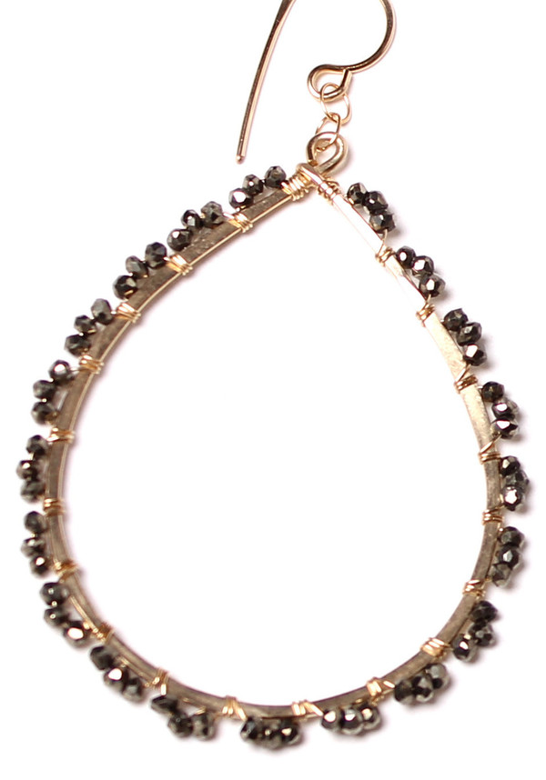 Pyrite Dot Hoops