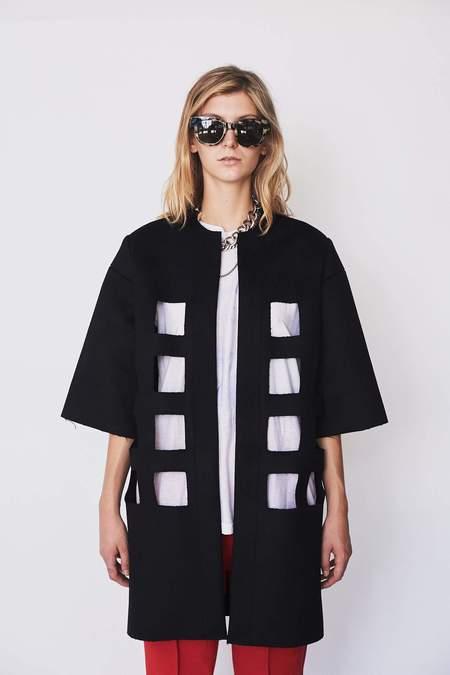 Nancy Stella Soto Bonded Wool Cutout Coat