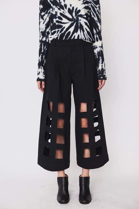Nancy Stella Soto Denim Cutout Trousers