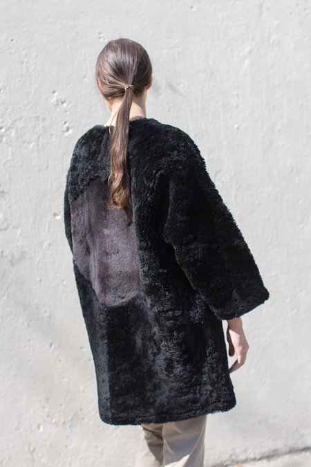 Milena Silvano Moon Coat in Black