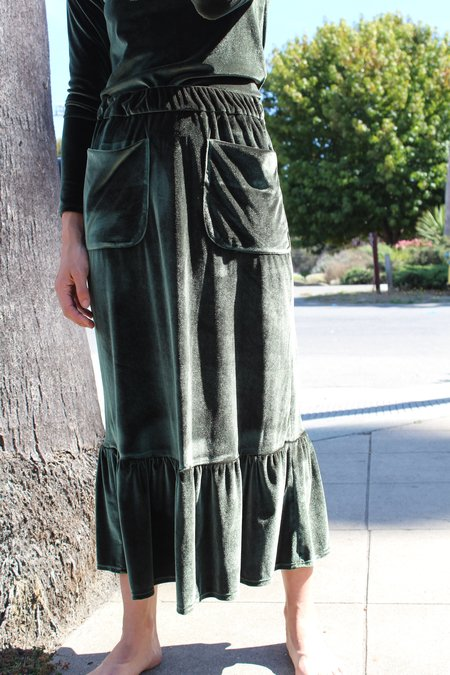 No.6 Ruffle Skirt Forest Velvet