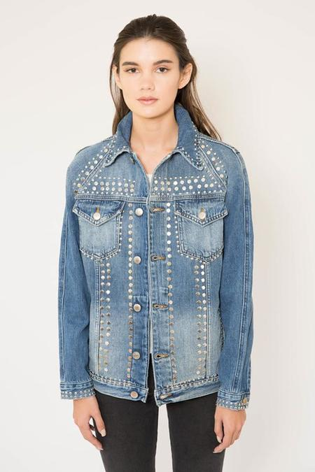 FRAME Denim Le Studded Jacket in Gelder