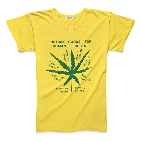 Fortune Goods Human Rights Tee - Mustard/Green