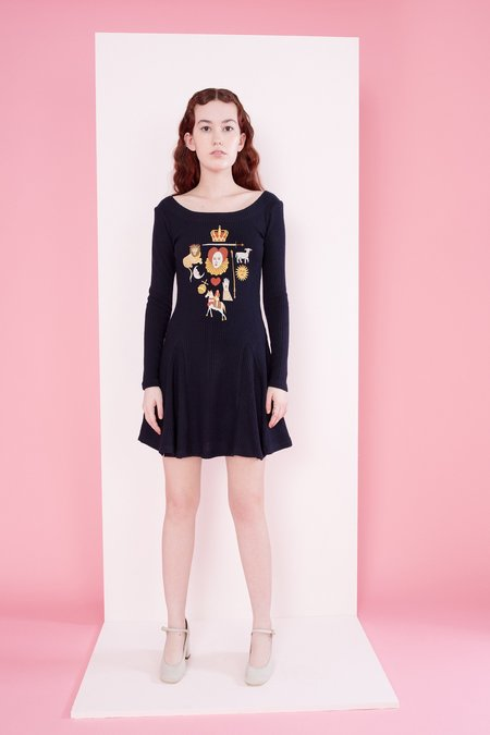 Samantha Pleet Elizabeth Dress - Midnight
