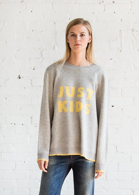 6397 Kids Crewneck - Grey/Yellow