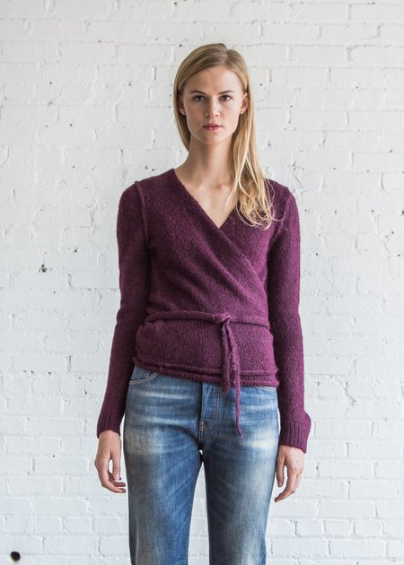A Détacher Tiara Wrap Sweater - Bordeaux