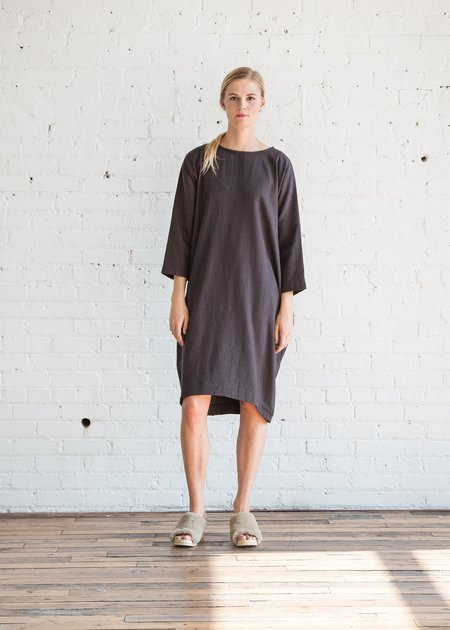 Black Crane Bud Dress - Plum