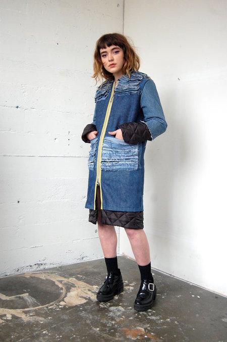 Alexa Stark Denim Puffer Jacket