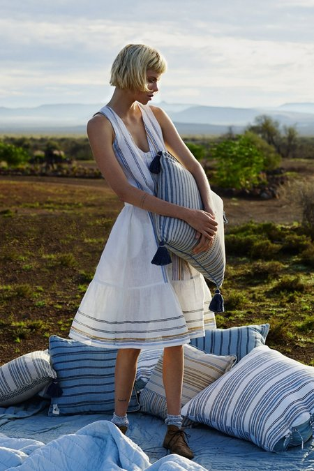 Karu Ruffle Dress in Handloom Linen