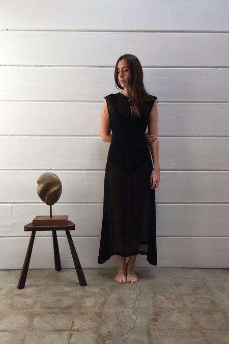 OR Keyhole Dress In Sheer Black