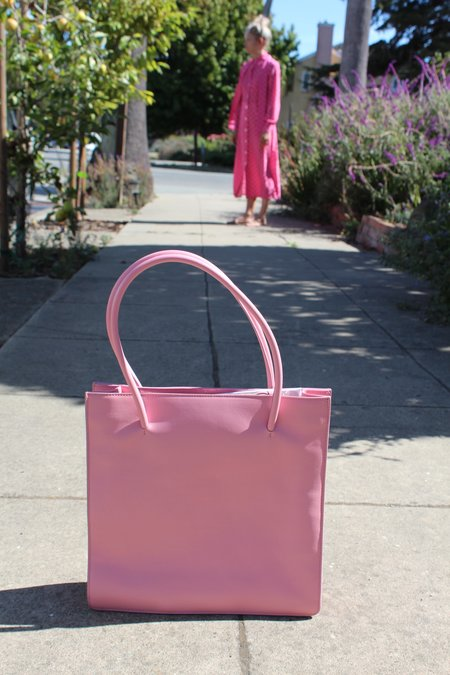 Maryam Nassir Zadeh MNZ Anais Tote - Coral Patent