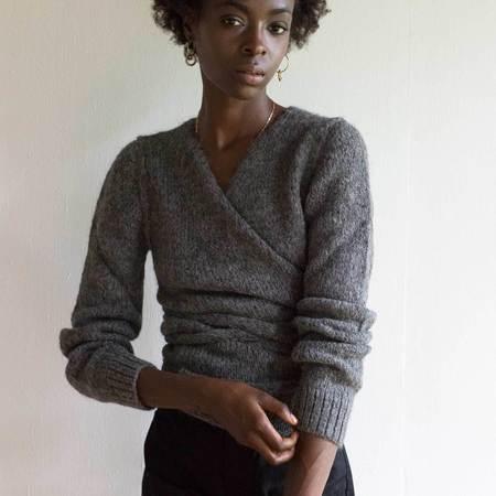 A Détacher Charcoal Tiara Wrap Sweater