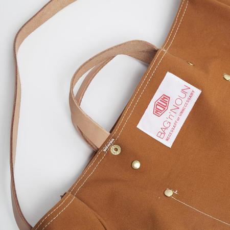 BAG'n'NOUN Tool Bag with Leather Strap - Brown