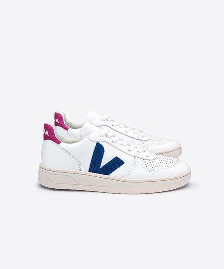 Veja White Glitter V-10 Sneaker