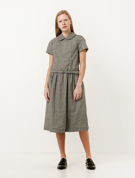 Comme des Garcons Comme des Garcons Womens Plaid Short Sleeve Dress
