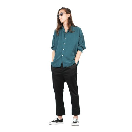SECOND/LAYER Camp Collar Shirt - Viridian