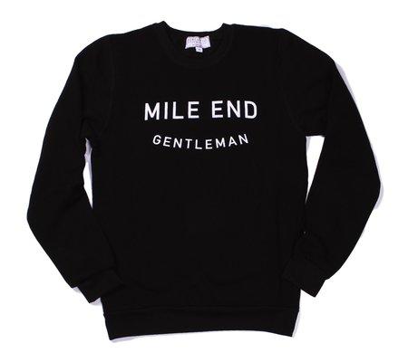 Mercantile Clothing Co. Mile End Gentleman Bamboo Crew - Black