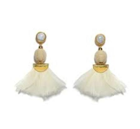 Lizzie Fortunato White Parrot Earrings