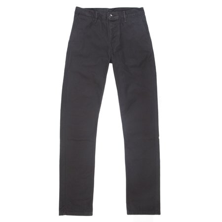 Left Field NYC Kerouac Chino - 13 oz Black Sueded Duck