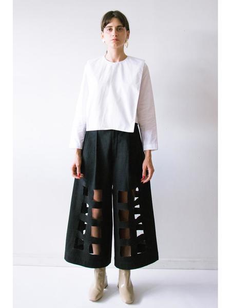 Nancy Stella Soto Collared Long Sleeve Poplin Shirt