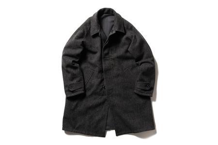 Beams + Reversible Overcoat - Charcoal