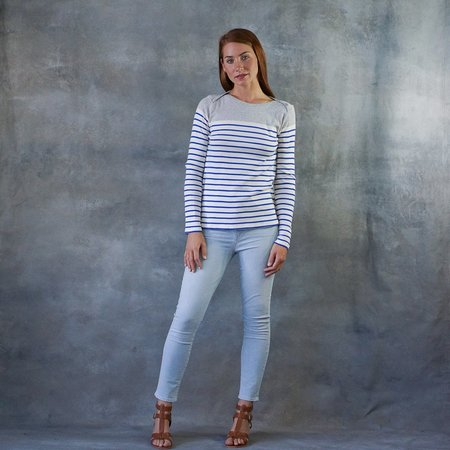Majestic Mariniere Long Sleeve Striped Top