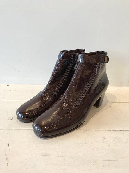 No.6 Statler Ankle Boot in Espresso Crinkle