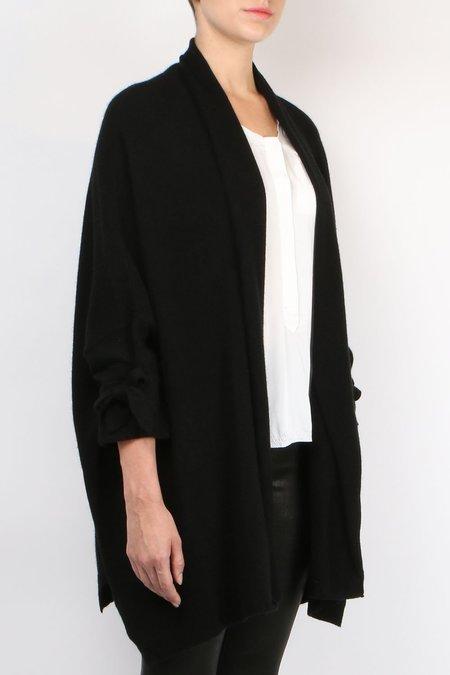 Inhabit Cashmere Top Coat - black