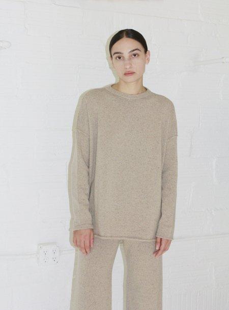 Micaela Greg Hi Lo Sweater - Speckle Camel