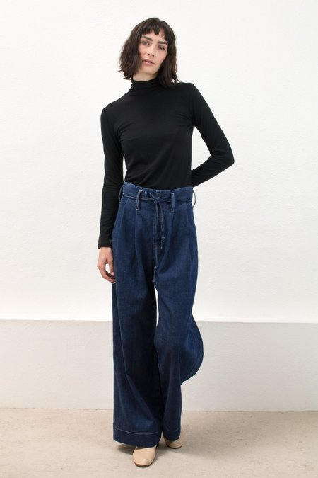 Micaela Greg Black Jersey Turtleneck