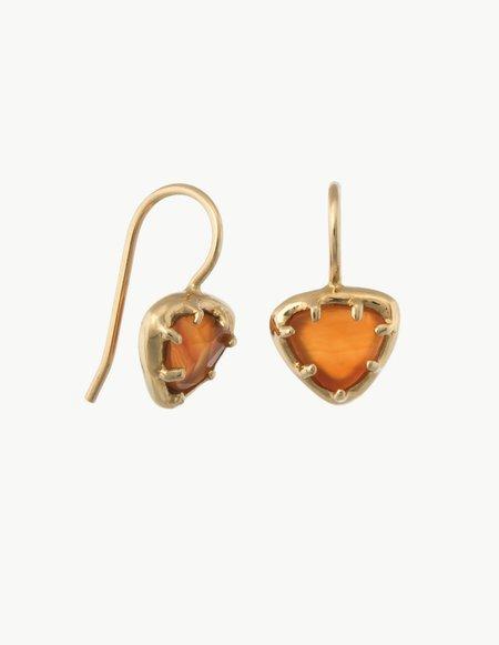 Kathryn Bentley Carnelian Organic Amulet Earrings