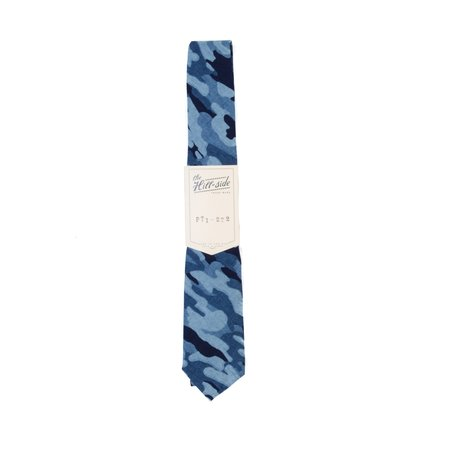 The Hill-side Pointed Tie - Indigo Cloud
